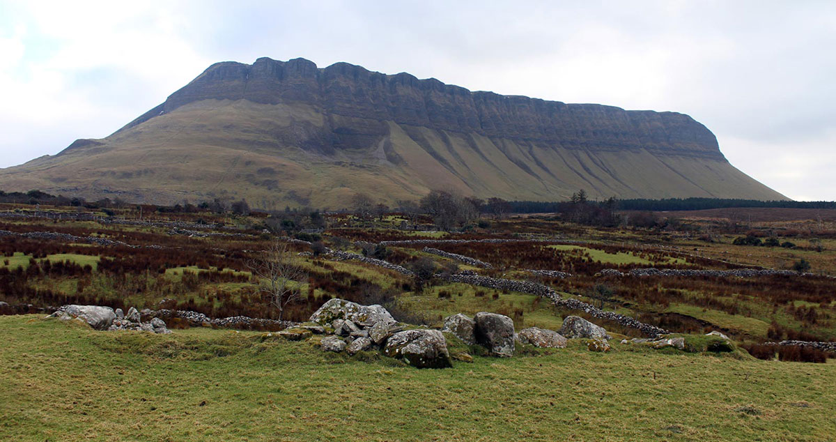 A passage-grave at Ardnaglass to the north of Benbulben in County Sligo.
