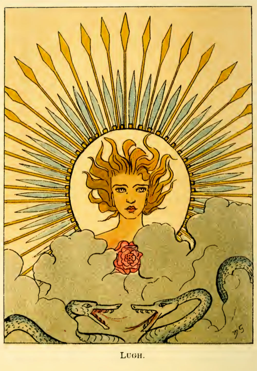 The Coming of Lugh illustrated by Maud Gonne.