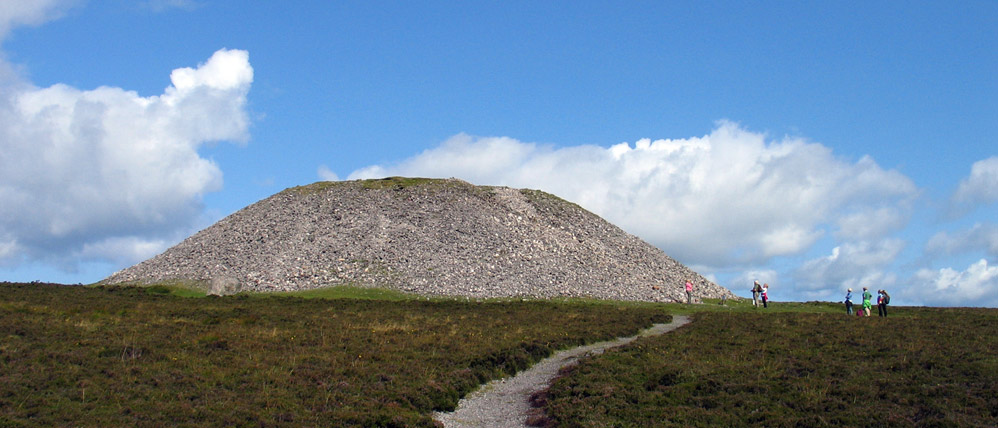 Queen Maeve's cairn, the massive neolithic monument on the summit of Knocknarea.