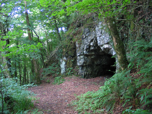 The cave on Carn Hill in Sligo.