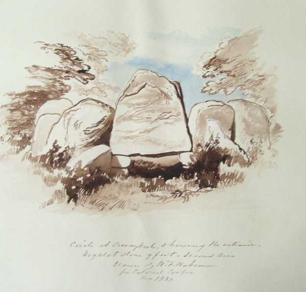 Wakeman's 1880 watercolour of Creevykeel.